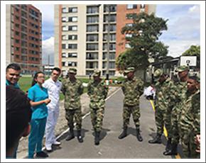 Estudiantes de Enfermería capacitan a soldados de la Policía Militar