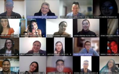 El Embajador de Colombia en Panamá sostuvo una sesión académica con estudiantes de séptimo semestre de Administración de Empresas