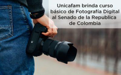 Unicafam brinda un curso básico de Fotografía Digital al Senado de la Republica de Colombia
