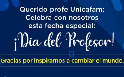Celebración del día del profesor en Unicafam.